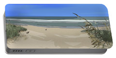 Portable Battery Charger featuring the digital art Ashore by Gina Harrison