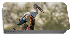 Portable Battery Charger featuring the photograph Asian Openbill by Pravine Chester