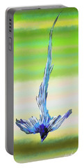 Portable Battery Charger featuring the digital art Asian Paradise Flycatcher by Iowan Stone-Flowers