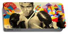 Asian Woman By Mohamed Ali In Brooklyn New York Portable Battery Charger