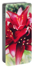Asiatic Lilies Portable Battery Charger