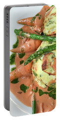 Asparagus Dish Portable Battery Charger by Tom Gowanlock