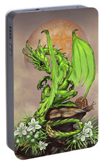 Asparagus Dragon Portable Battery Charger by Stanley Morrison