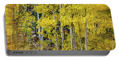 Portable Battery Charger featuring the photograph Aspen Autumn Burst by Bill Gallagher
