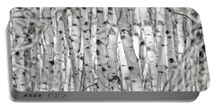 Portable Battery Charger featuring the photograph Aspen Forest Iv by Brad Allen Fine Art