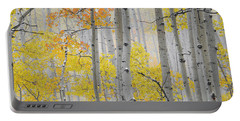 Aspen Forest Texture Portable Battery Charger by Leland D Howard