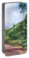 Portable Battery Charger featuring the painting Aspen Heaven by Jane Autry