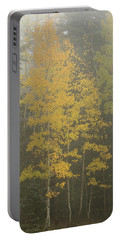Aspen In The Fog Portable Battery Charger