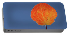 Portable Battery Charger featuring the photograph Aspen Leaf 1 by Marie Leslie