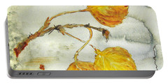 Aspen Leaves Portable Battery Charger by Dawn Derman