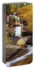 Portable Battery Charger featuring the photograph Aspen-lined Waterfalls by John Hight