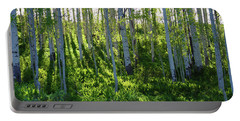 Portable Battery Charger featuring the photograph Aspen Morning 1 by Marie Leslie