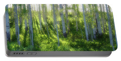 Portable Battery Charger featuring the photograph Aspen Morning 3 by Marie Leslie