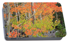 Portable Battery Charger featuring the photograph Aspen Stoplight by David Chandler