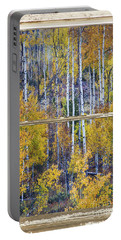 Aspen Tree Magic Cottonwood Pass White Farm House Window Art Portable Battery Charger
