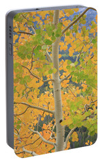 Portable Battery Charger featuring the photograph Aspen Watching You by David Chandler