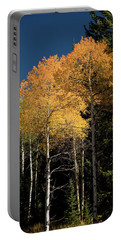 Portable Battery Charger featuring the photograph Aspens And Sky by Steve Stuller