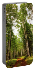 Portable Battery Charger featuring the photograph Aspens Galore by Rick Furmanek