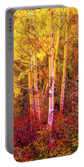 Aspens In Autumn-2 Portable Battery Charger by Nancy Marie Ricketts