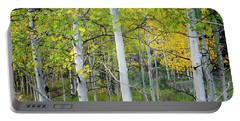 Aspens In Autumn 6 - Santa Fe National Forest New Mexico Portable Battery Charger