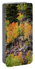 Aspens In Autumn Colors Portable Battery Charger