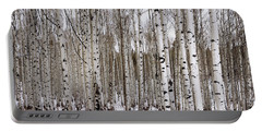 Aspens In Winter - Colorado Portable Battery Charger