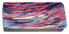 Portable Battery Charger featuring the painting Associations - Sky And Clouds Collection by Anastasiya Malakhova