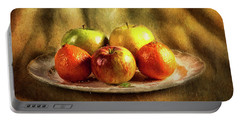 Assorted Fruits In A Plate Portable Battery Charger