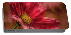 Aster Red Painterly #h1 Portable Battery Charger