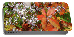 Portable Battery Charger featuring the photograph Asters And Creeper by Betsy Zimmerli