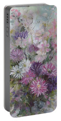 Asters And Stocks Portable Battery Charger