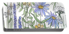 Asters And Wildflowers Portable Battery Charger