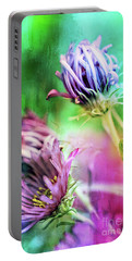 Asters Gone Wild 2 Portable Battery Charger