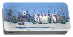 Portable Battery Charger featuring the painting Asthall by Elizabeth Lock