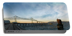 Astoria Megler Bridge By Riverwalk Panorama Portable Battery Charger