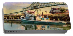 Astoria Waterfront, Scene 1 Portable Battery Charger by Jeff Kolker