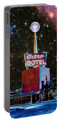 Portable Battery Charger featuring the photograph Astro Motel by Jim and Emily Bush