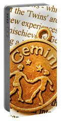 Astrological Gemini Portable Battery Charger
