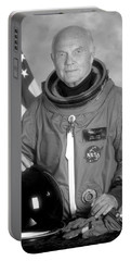 Astronaut John Glenn Portable Battery Charger by War Is Hell Store