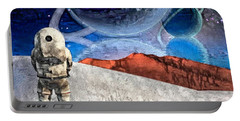 Astronaut On Exosolar Planet Portable Battery Charger