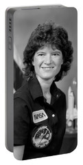 Astronaut Sally Ride  Portable Battery Charger by War Is Hell Store