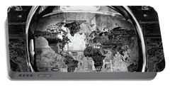 Astronaut World Map 1 Portable Battery Charger by Bekim Art