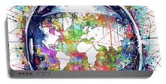 Astronaut World Map 6 Portable Battery Charger