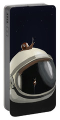 Astronaut's Helmet Portable Battery Charger by Keshava Shukla