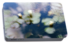 Portable Battery Charger featuring the photograph At Claude Monet's Water Garden 4 by Dubi Roman