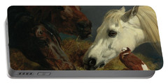 Portable Battery Charger featuring the painting At Dinner by John Frederick Herring