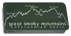 At Elevation Profile Gsm White Portable Battery Charger by Heather Applegate