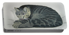 Portable Battery Charger featuring the painting At Rest by Norm Starks