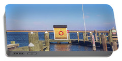 Portable Battery Charger featuring the photograph At The Dock by Colleen Kammerer