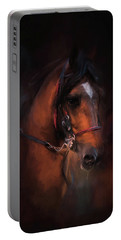 At The Horse Show 1 Portable Battery Charger by Jai Johnson